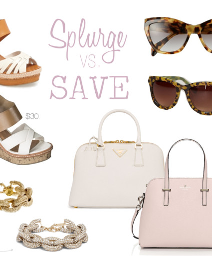 Splurge vs. Save: Accessories
