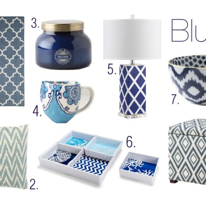 Summertime Blues: Home Decor