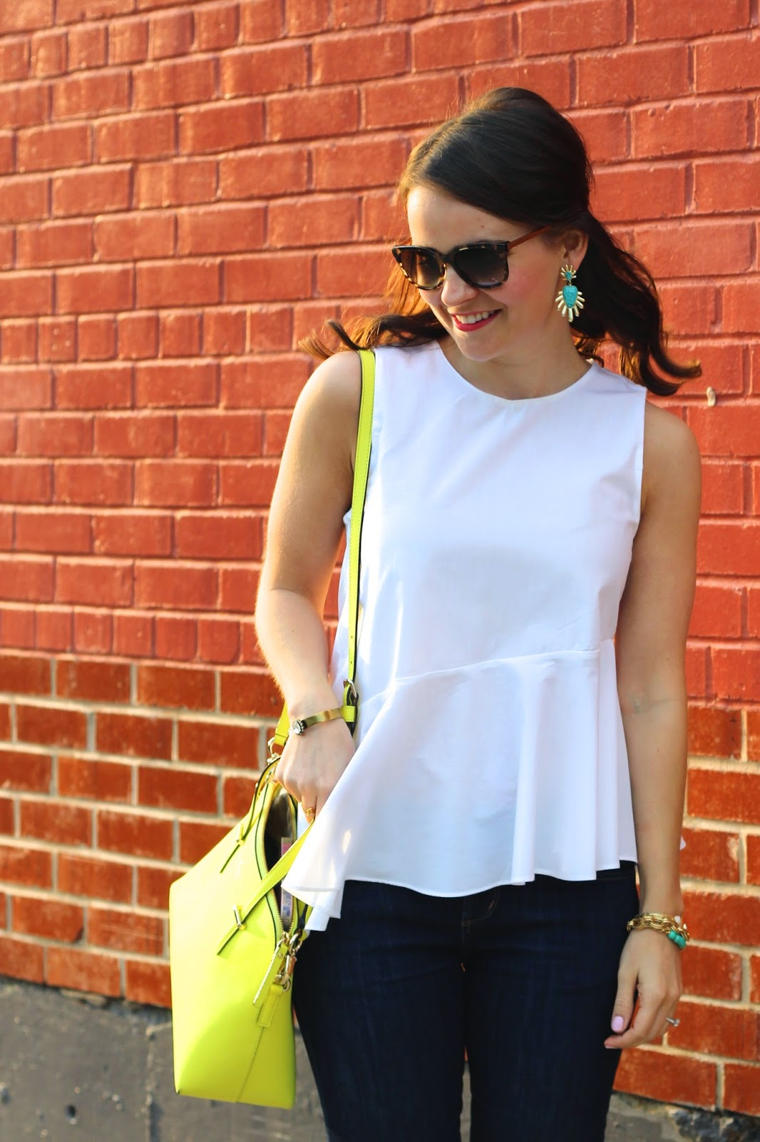 white ruffle zara top