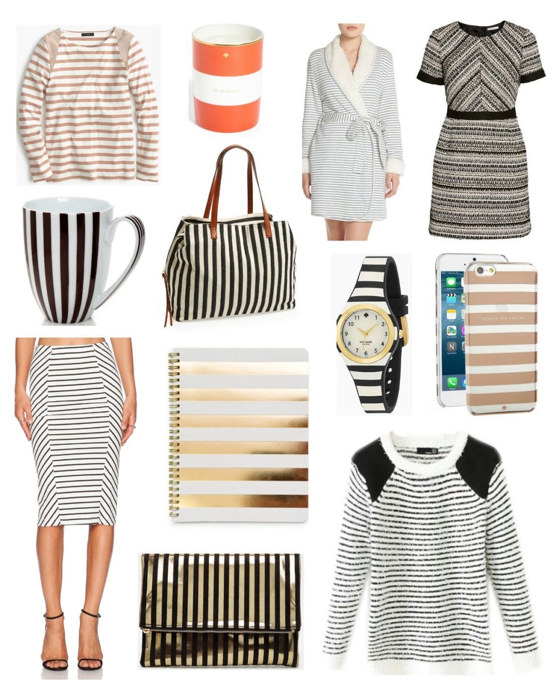striped accessories