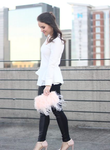 Valentine's Day Look: Pink Feather Clutch