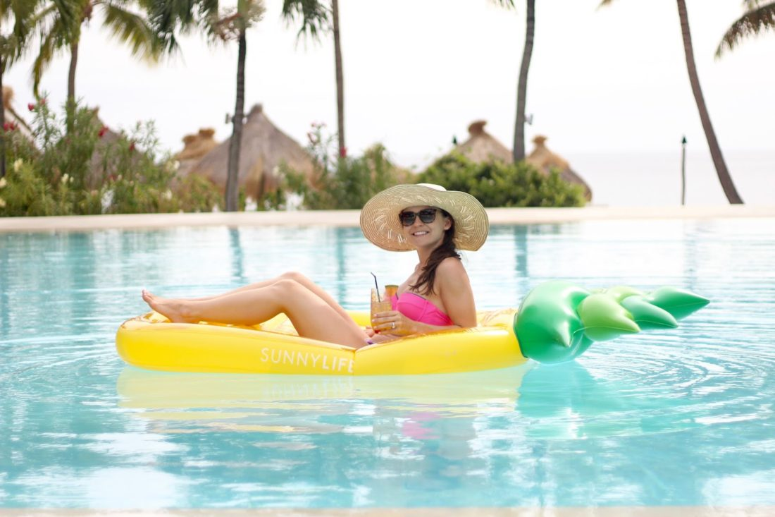 sunny life pineapple inflatable float