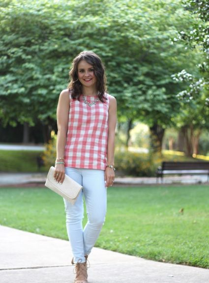 Gingham + Stripes: A Fun Look for the 4th