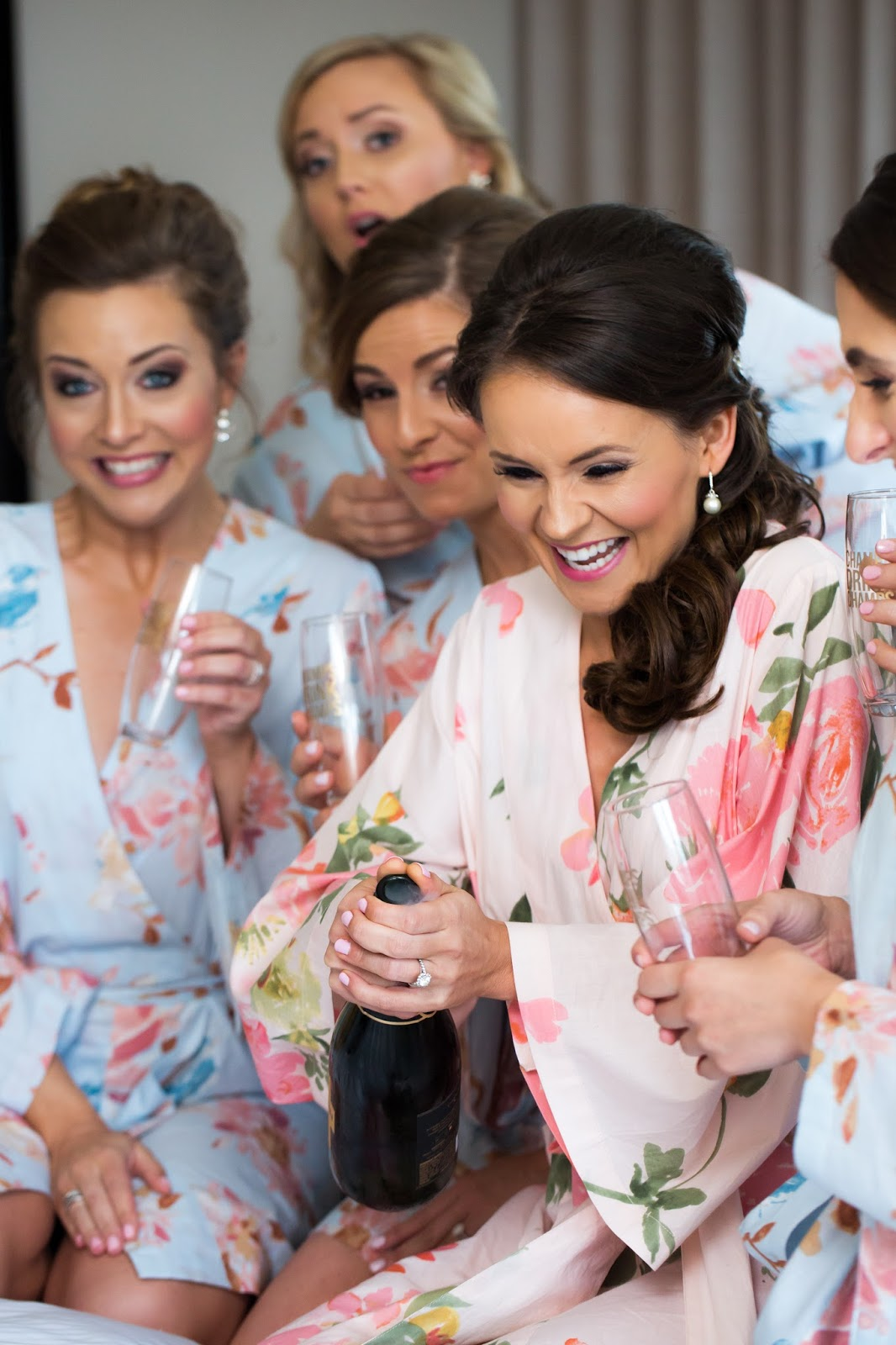 Plum Pretty Sugar bridesmaid robes, wedding day getting ready