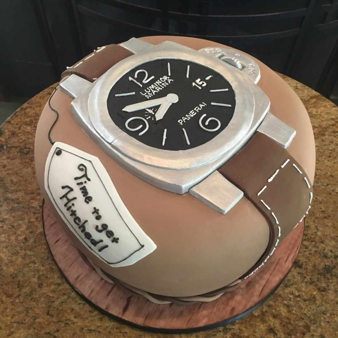 Panerai watch cake