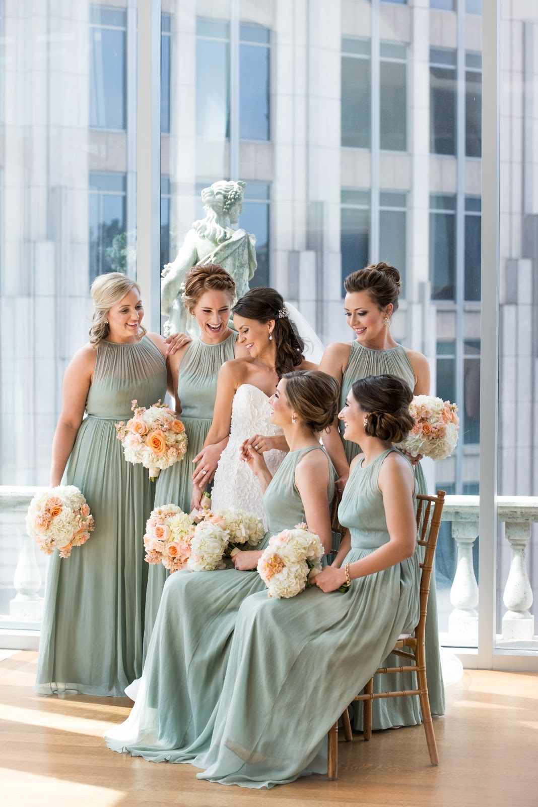Our wedding day wedding party medicine manicures jew bridesmaid dresses dusty shale ombrellifo Images