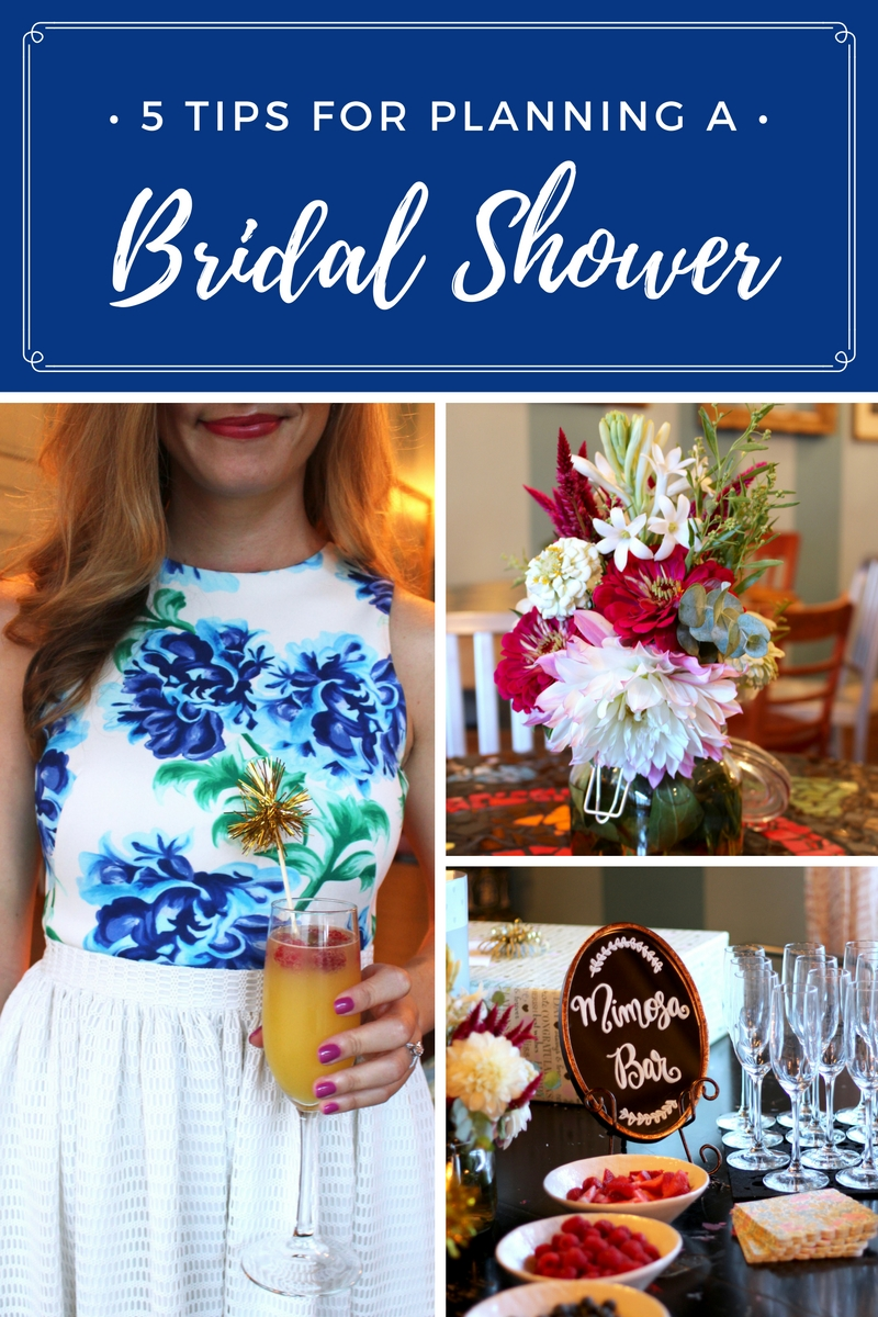 tips on planning a bridal shower