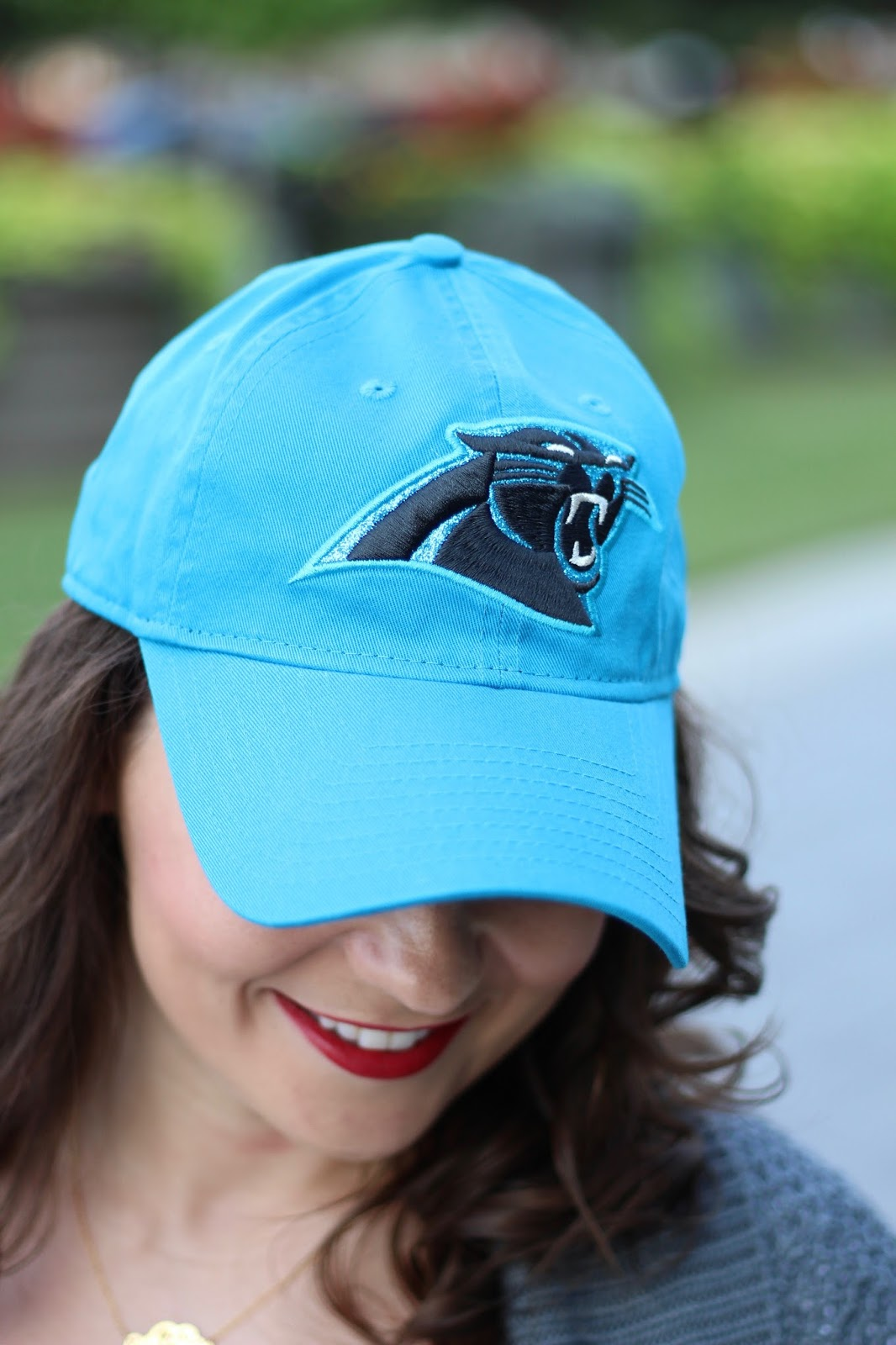 Carolina Panthers blue baseball hat