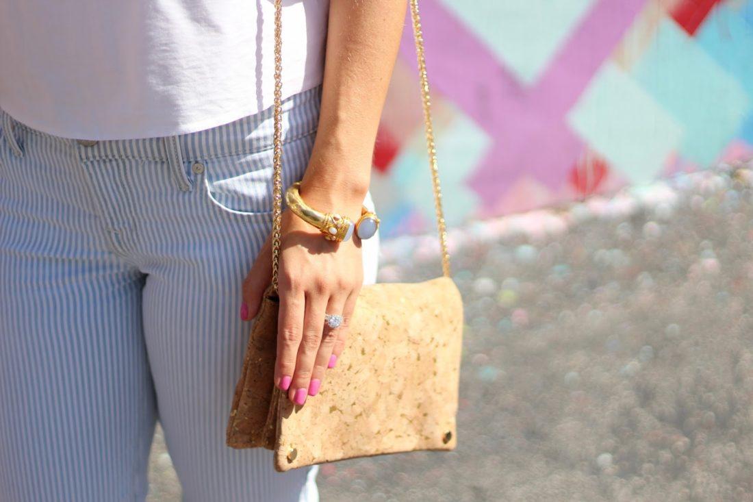 street level cork crossbody bag
