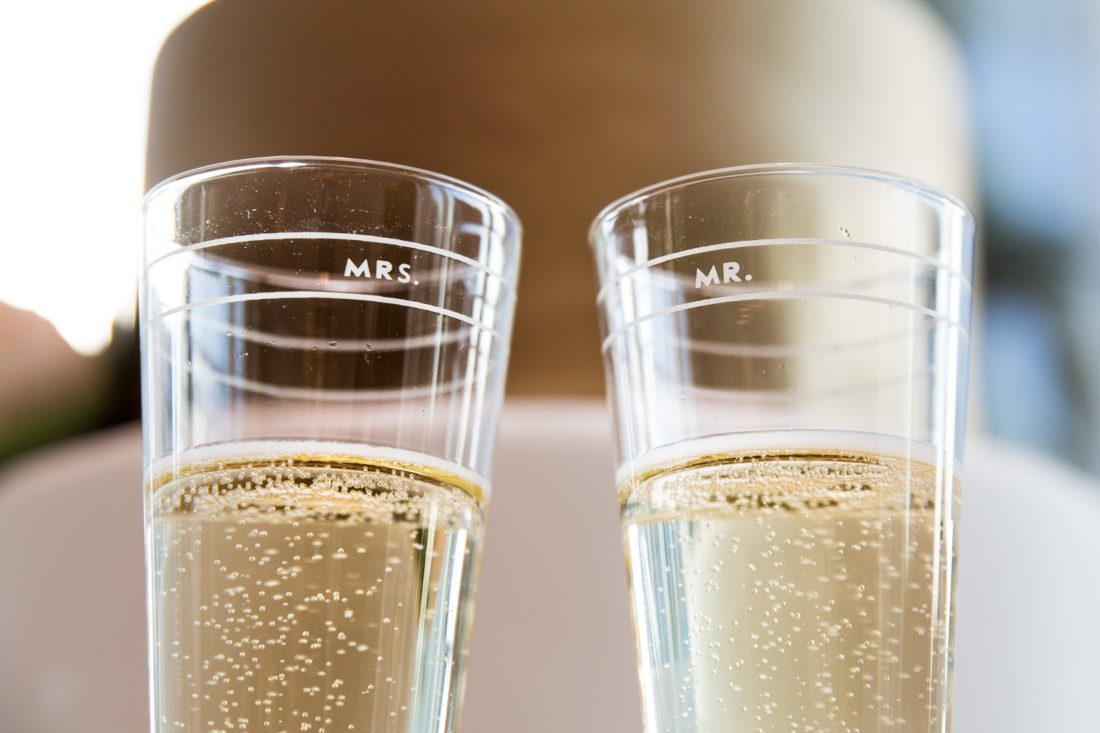 kate spade wedding champagne flutes