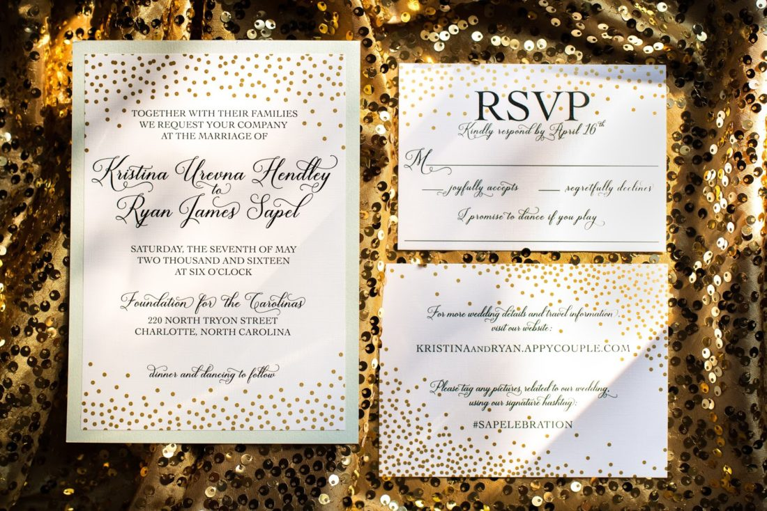 mint and gold wedding invitations elle dee designs