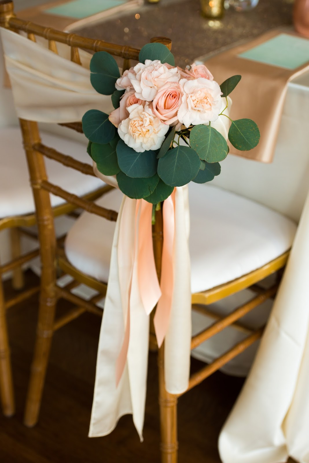 floral chair tie wedding