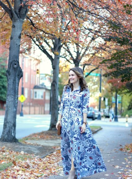 Thanksgiving Outfit: Hutch Maxi Dress + $500 Giveaway