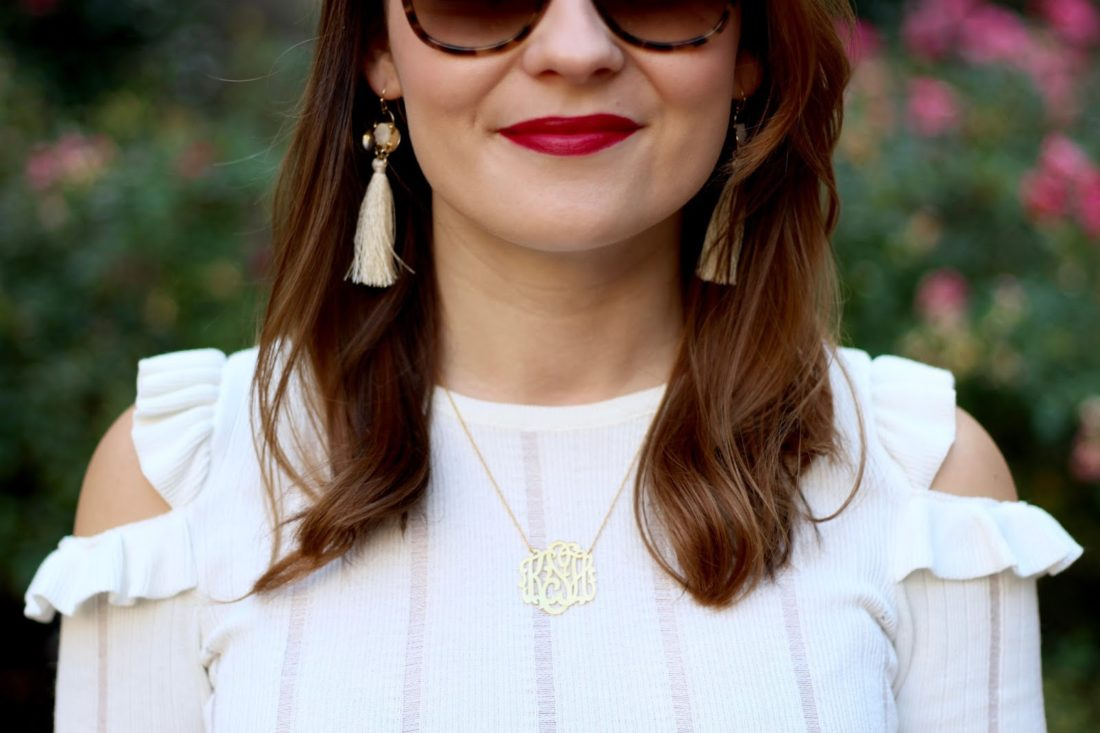 moon & lola tassel earrings
