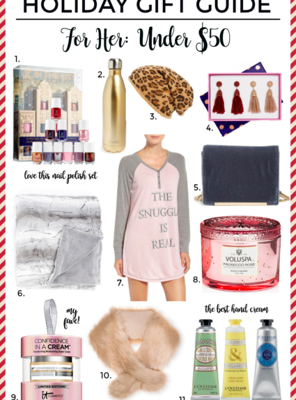 Holiday Gift Guide: For Her Under $50