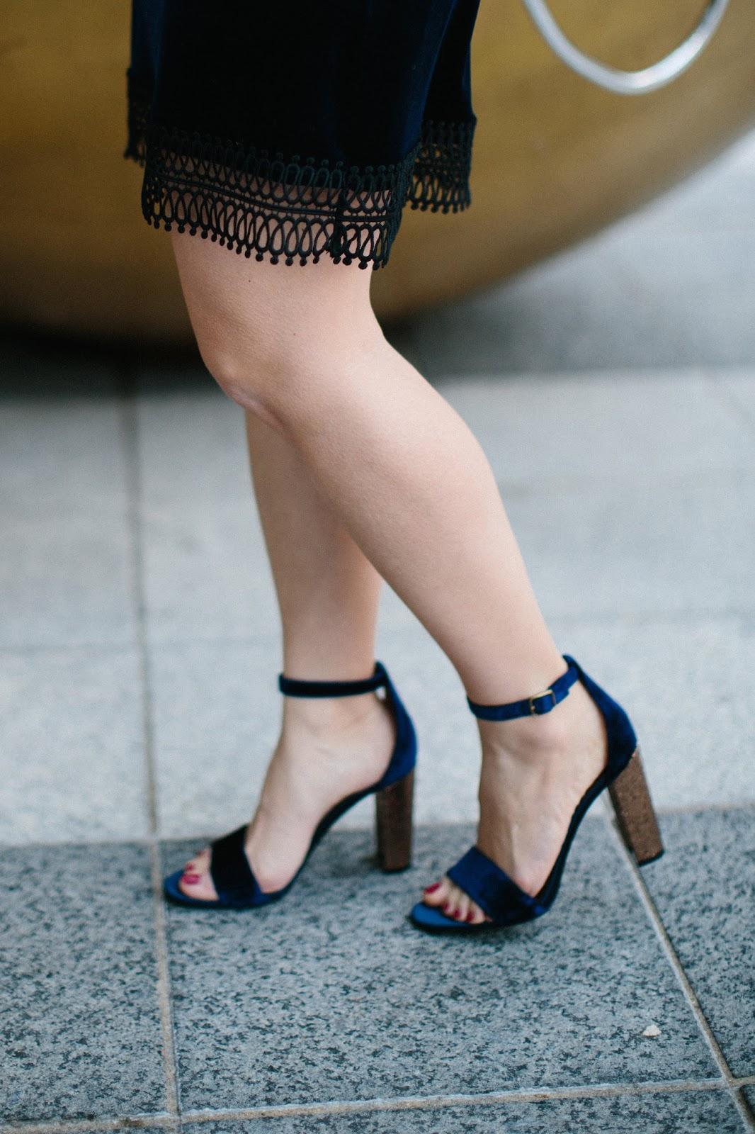 Marc Fisher velvet glitter heels