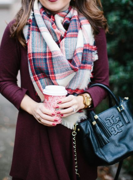 Burgundy & Plaid