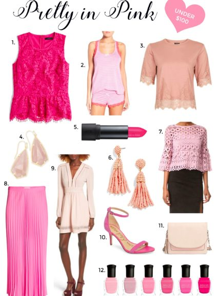 pink outifts under $100