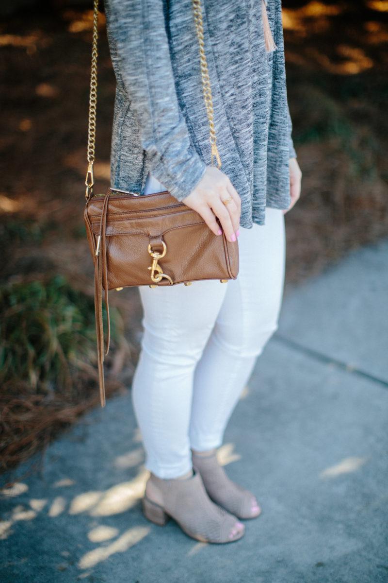 Rebecca Minkoff Mini MAC crossbody bag, casual spring outfit