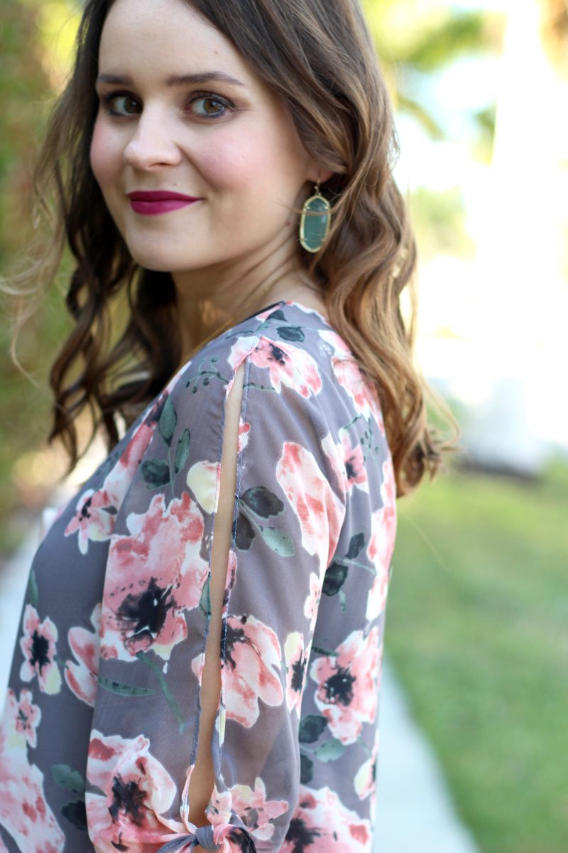floral dress under $50, soprano floral shift dress, Kendra Scott elle earrings
