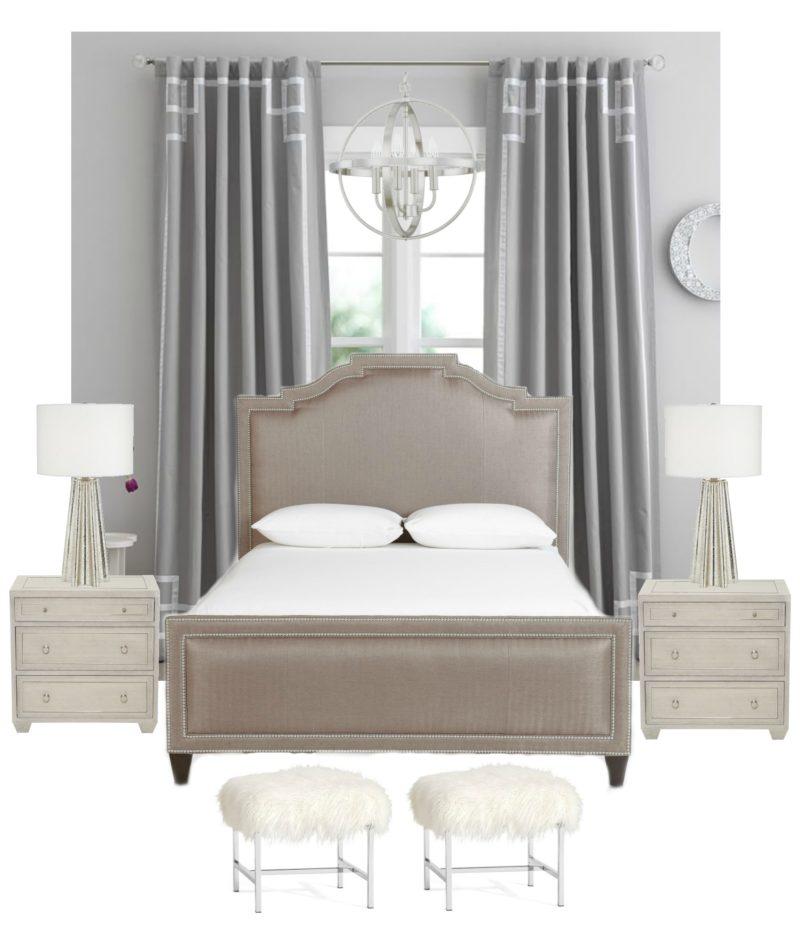 grey master bedroom idea, master bedroom decor