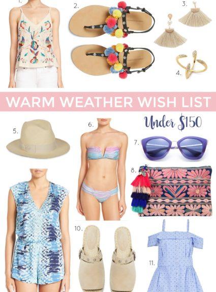 Warm Weather Wish List
