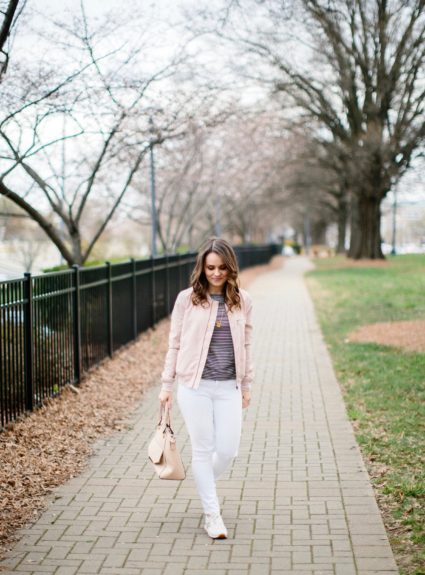 Your New Favorite Spring Jacket: The Blush Bomber