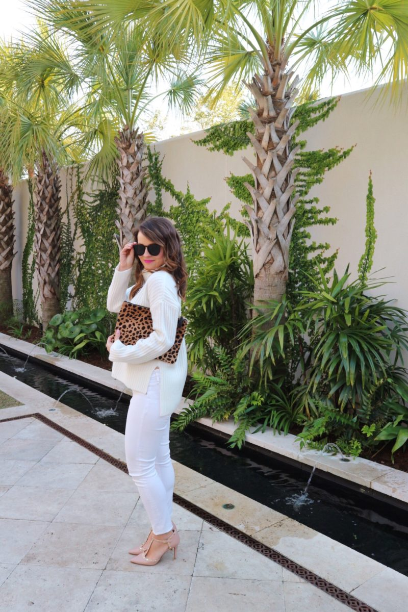 all white outfit, cannon green courtyard