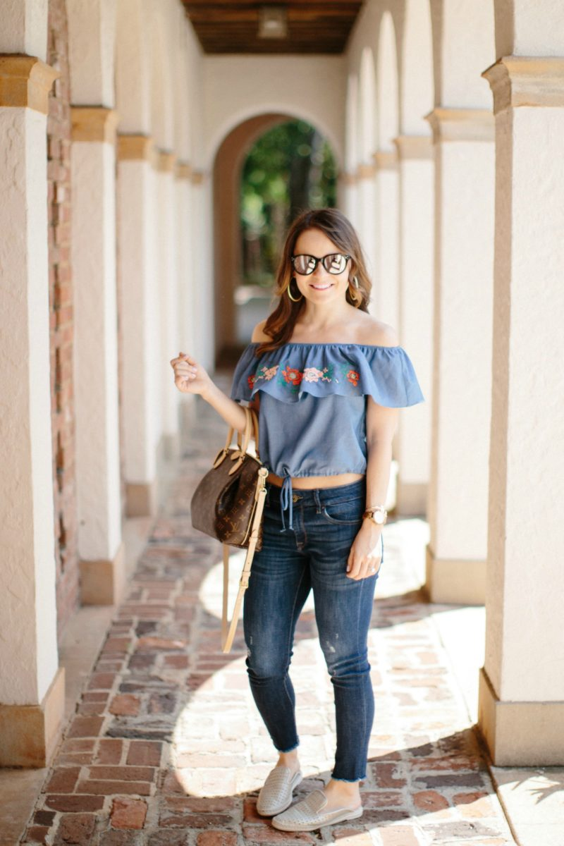 Everly fiesta crop top, casual spring outfit