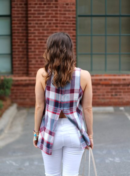 Red, White & Blue Split-Back Tank