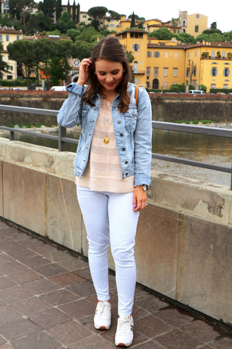 Europe travel outfit, Kut from the Kloth denim jacket