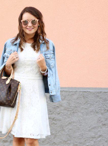 Denim, Lace & Striped Sandals