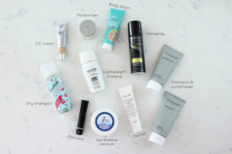 travel size beauty favorites, travel size toiletries
