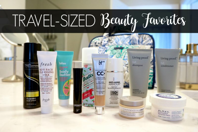 travel sized beauty favorites, travel size toiletries