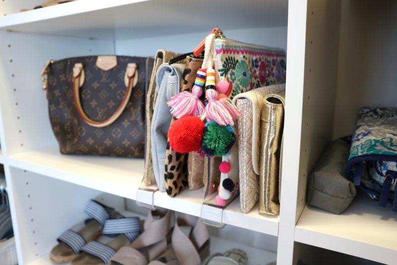 acrylic shelf dividers, master closet tour