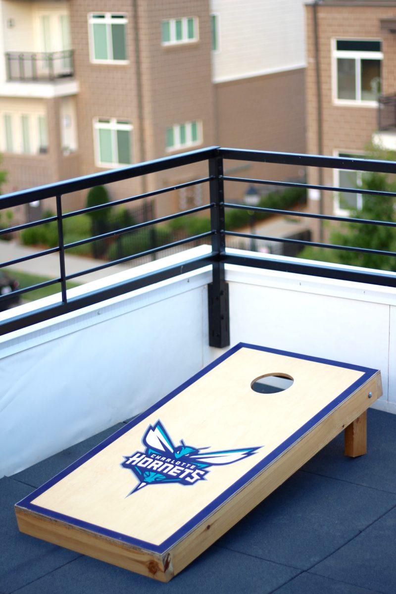 NBA cornhole boards, Charlotte Hornets cornhole