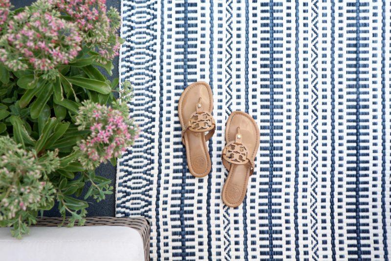 Target Threshold blue pattern stripe rug