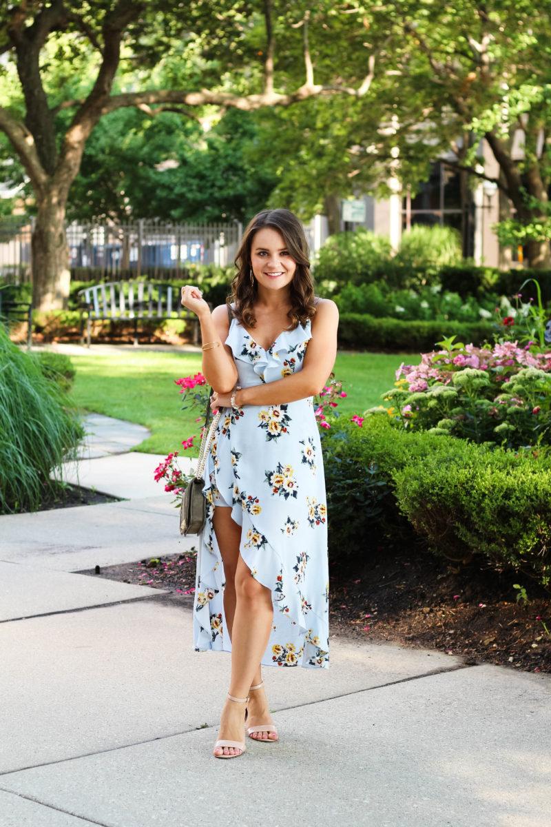 romper maxi dress, floral dress