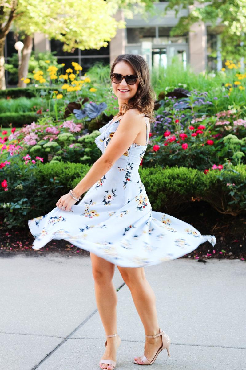 floral romper maxi dress
