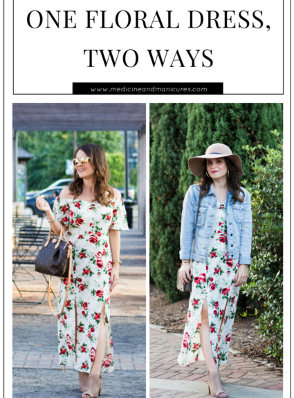 One Floral Dress, Two Ways
