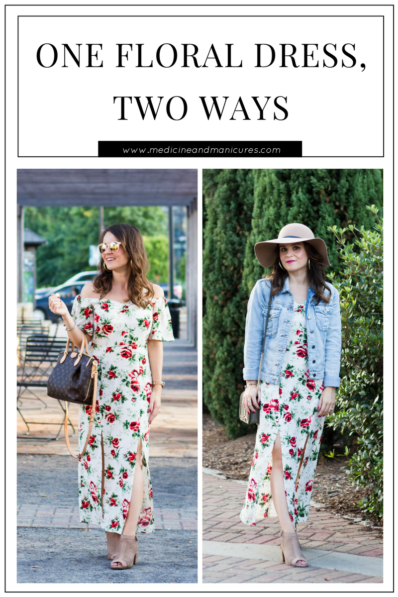 floral dress styled two ways