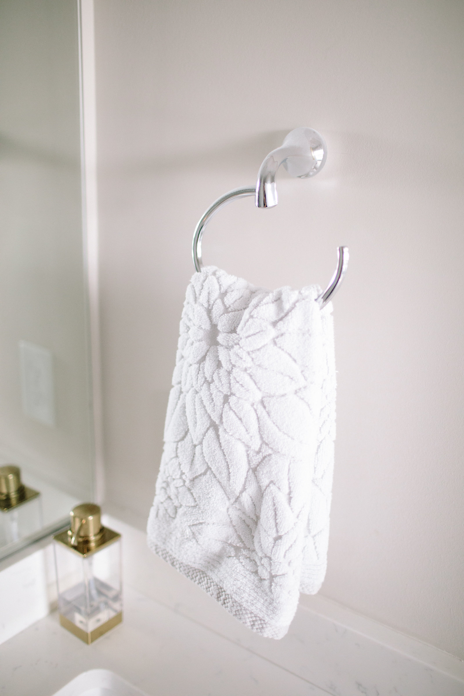 grey floral hand towels