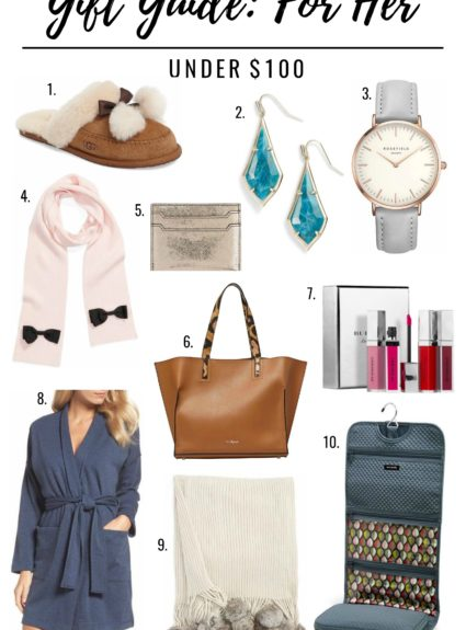 Gift Guide for Her: Under $100