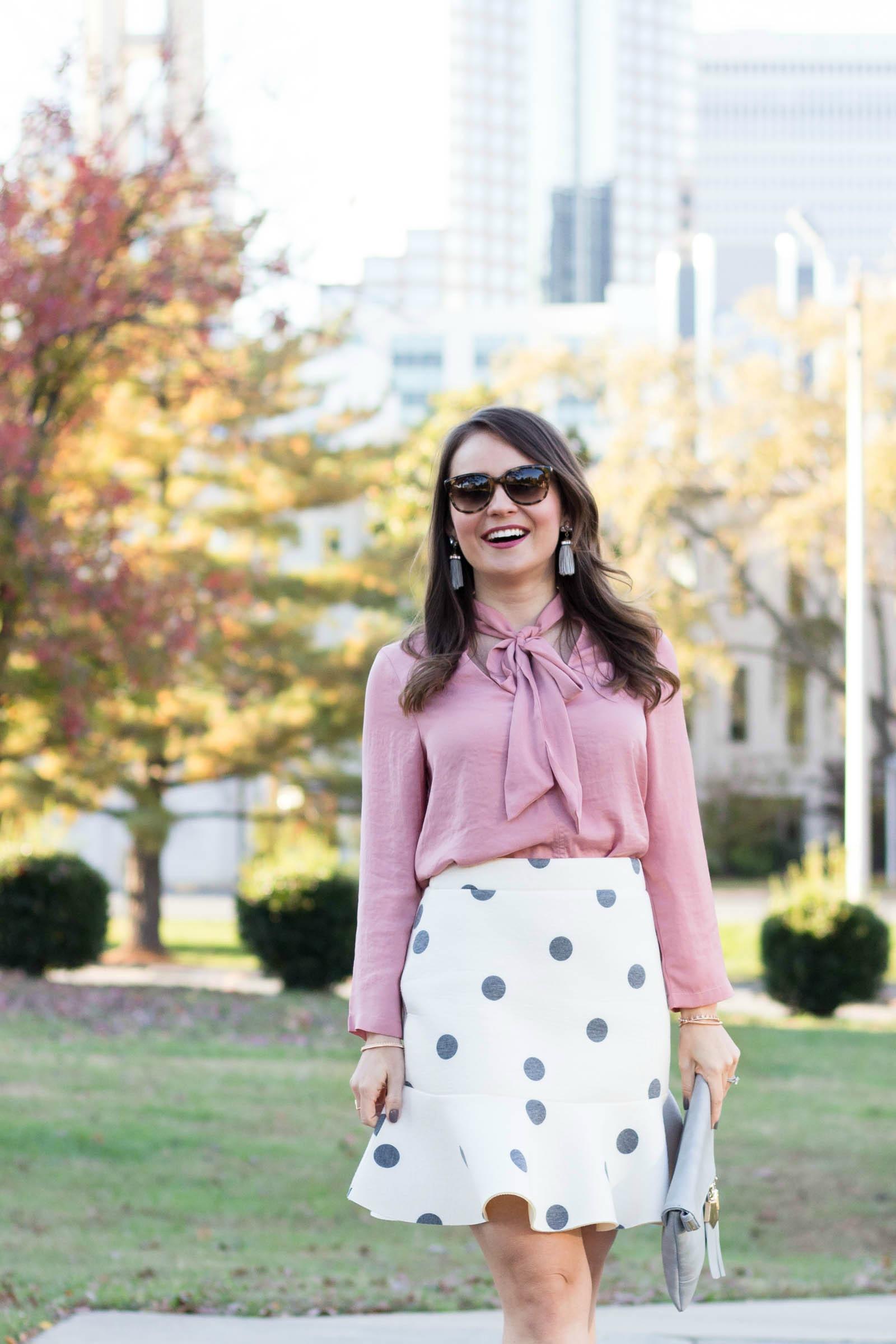 bobeau tie front blouse