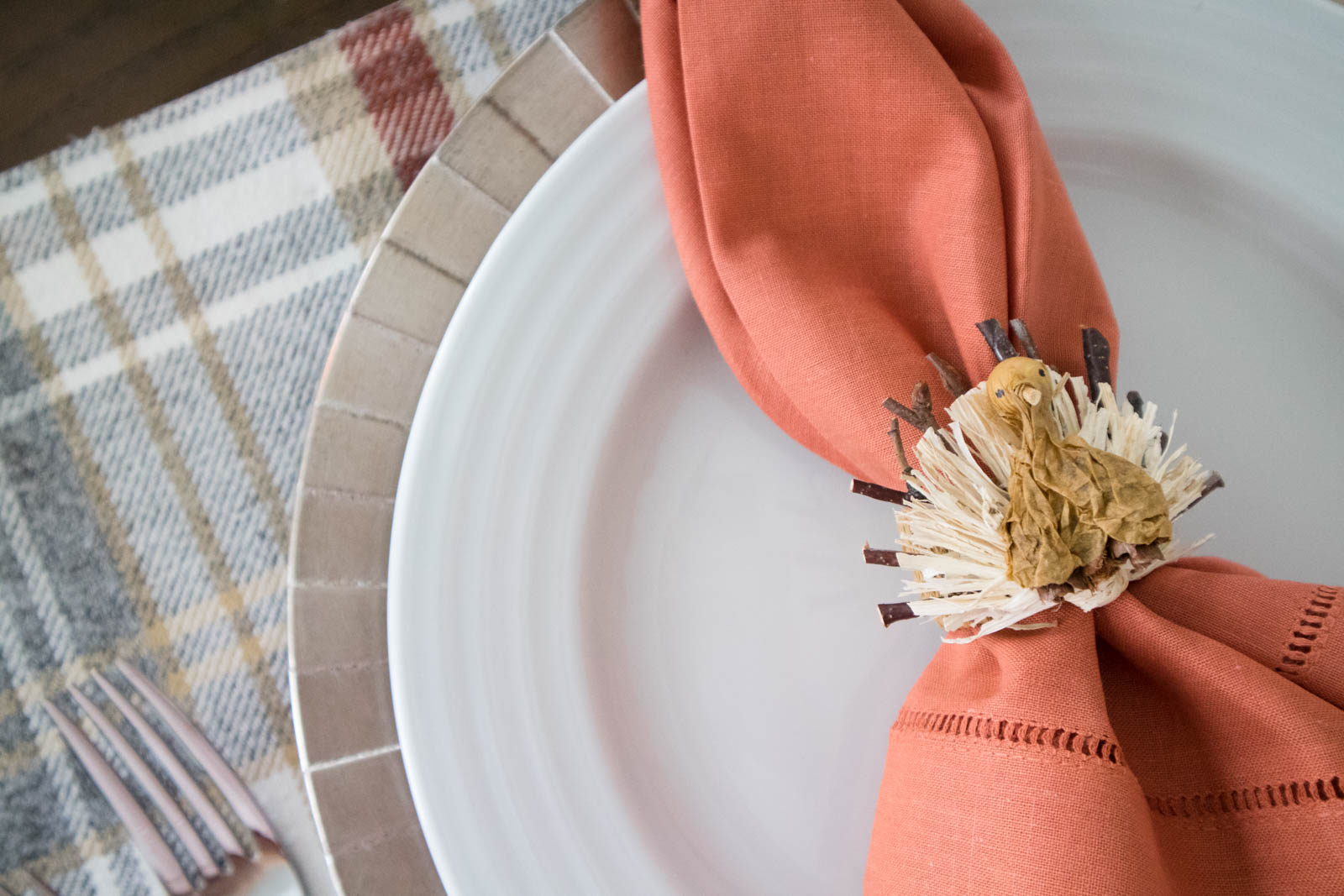 turkey napkin ring, thanksgiving dinner