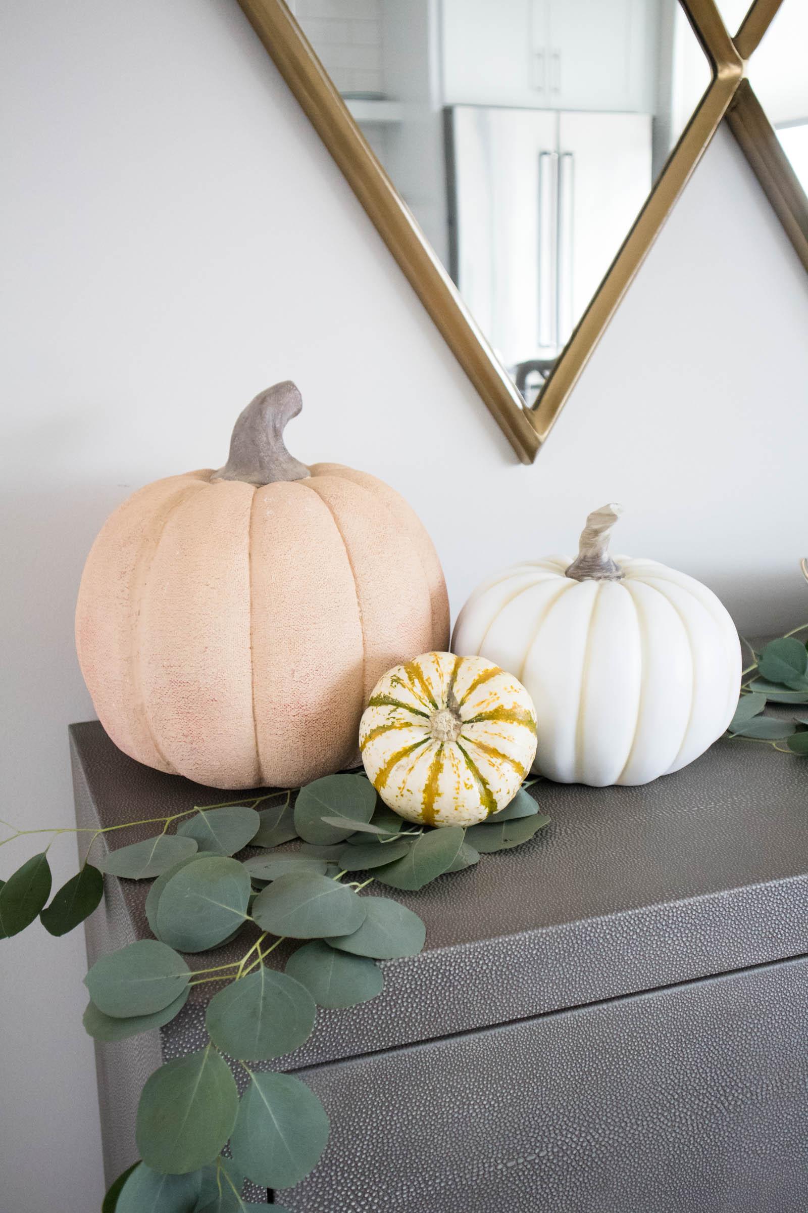 fall home decor, pumpkin decor