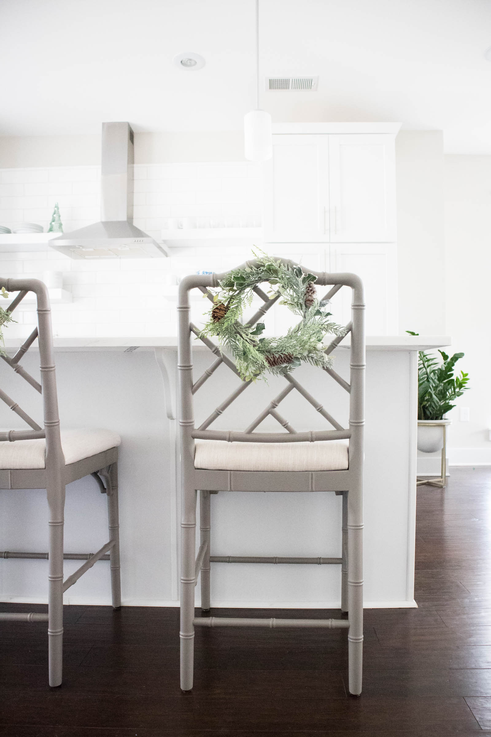 dayna counter stools, barstool wreath