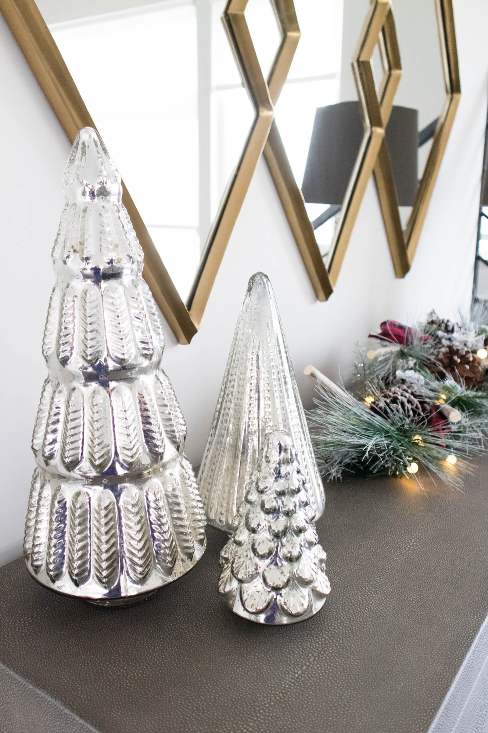 mercury glass christmas trees