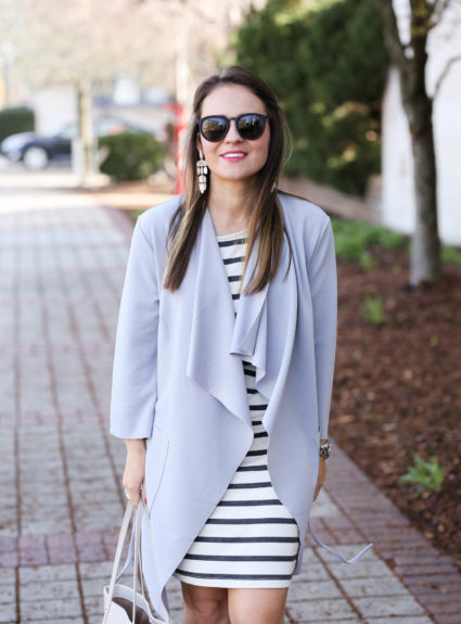 Pastel Wrap Coat for Spring
