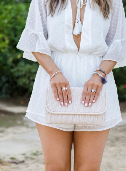 Vacation Look: White Swiss Dot Romper